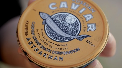 The can the driver used for the poached caviar dates from the time of the USSR
